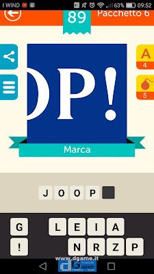 Iconica Italia Pop Logo Quiz soluzione pacchetto 6 livelli 89-100