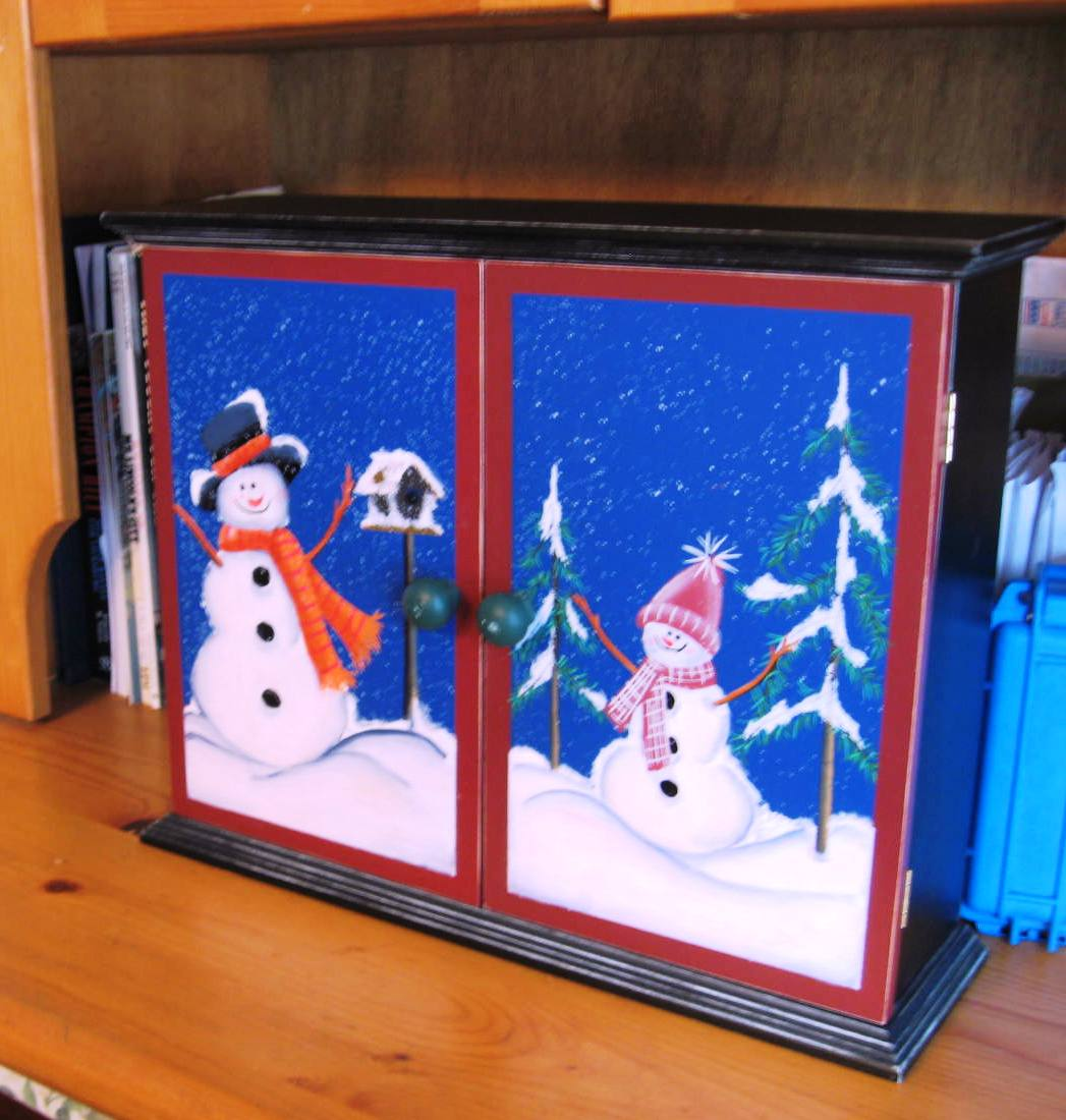 The Kids During Christmas Season Is Filling An Advent Calendar For 24 Days Before In Our Case A Wooden Box Cabinet