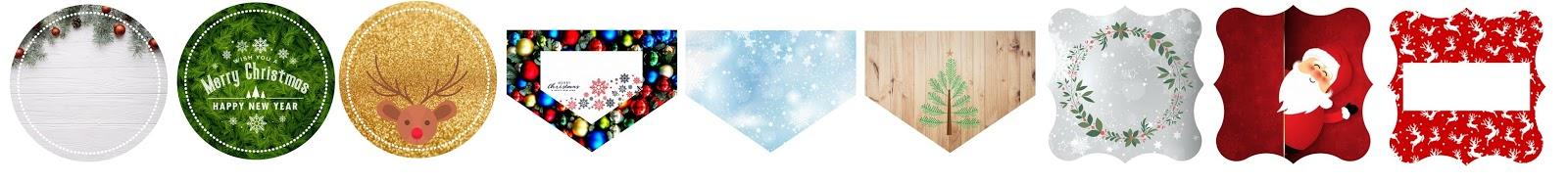 Etykiety_swiateczne_do_prezentów karnety karneciki bileciki do prezentów do druku do pobrania darmowe świąteczne karneciki bileciki świąteczne do prezentów do torebek z okazji bożego narodzenia z mikołajem z gwiazdkami złote