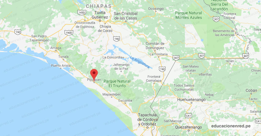 Temblor en México de Magnitud 4.1 (Hoy Viernes 31 Julio 2020) Sismo - Epicentro - Pijijiapan - Chiapas - CHIS. - SSN - www.ssn.unam.mx