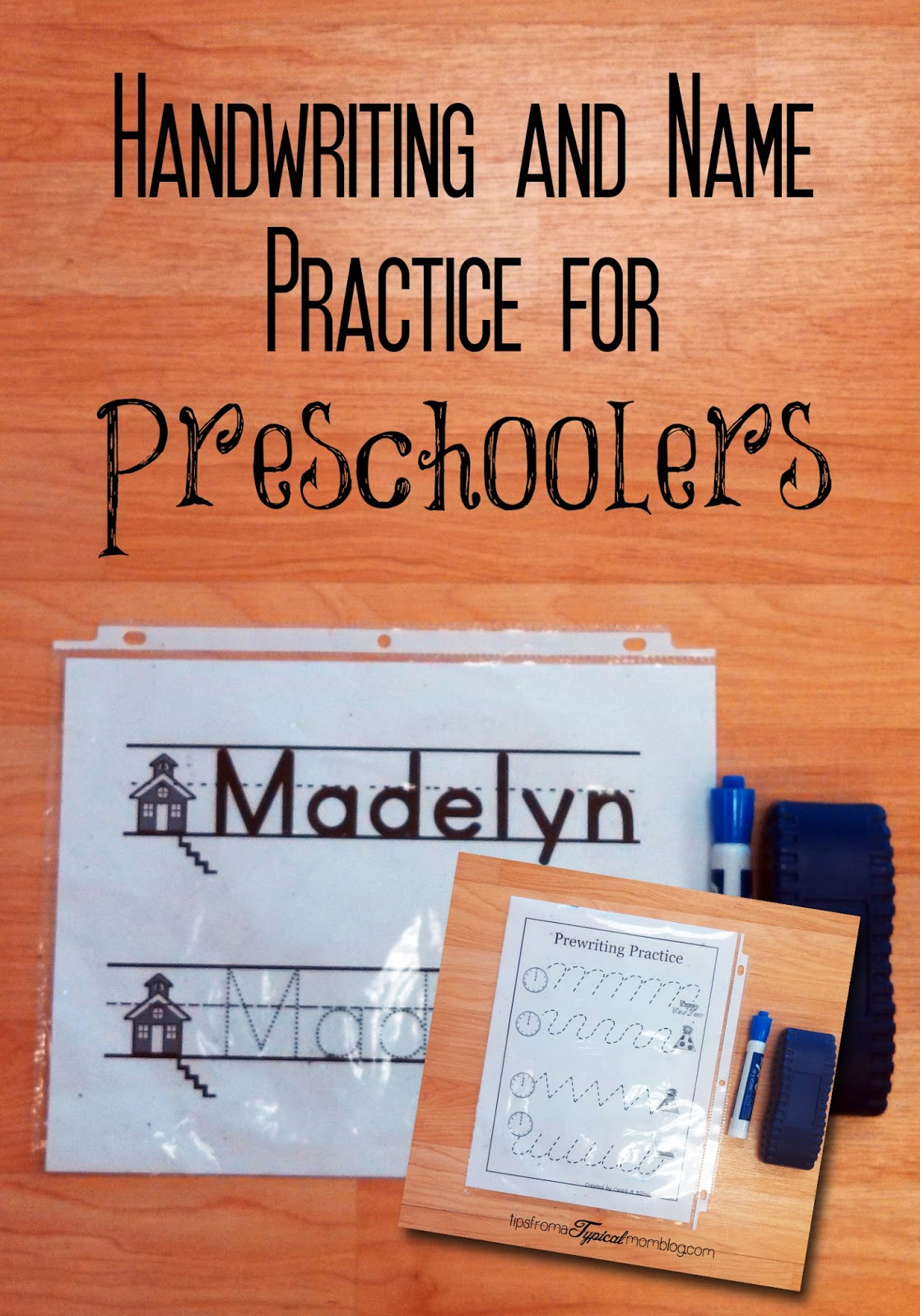 Name Practice and Handwriting Papers for Preschool