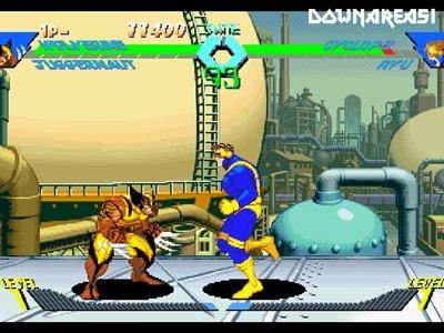 X Men VS Street Fighter PSX Game Screenshot X Men Vs Street Fighter PS1 ISO