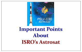 Important Points to Know about ISRO's Astrosat