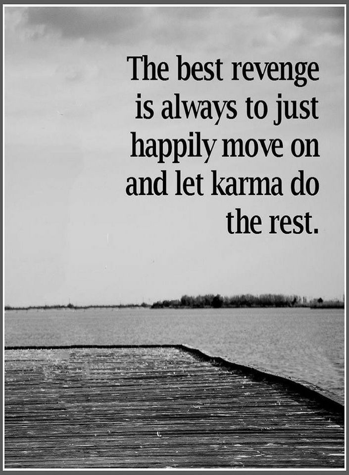 Karma Quotes The Best Revenge Is Always To Just Happily Move On And