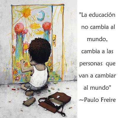 Meme sobre una cita de Paulo Freire
