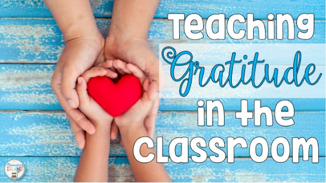 Teaching gratitude in the classroom is easy to incorporate into your thankful lessons with these ideas and activities.  Each student will have fun reflecting about those who have helped them and what they are specifically grateful for.  A free printable is included to help your kids display their gratefulness!  Perfect for November when we give thanks! These activities are perfect for 1st, 2nd, 3rd, & 4th grade students. #elementaryisland #Thanksgiving #grateful