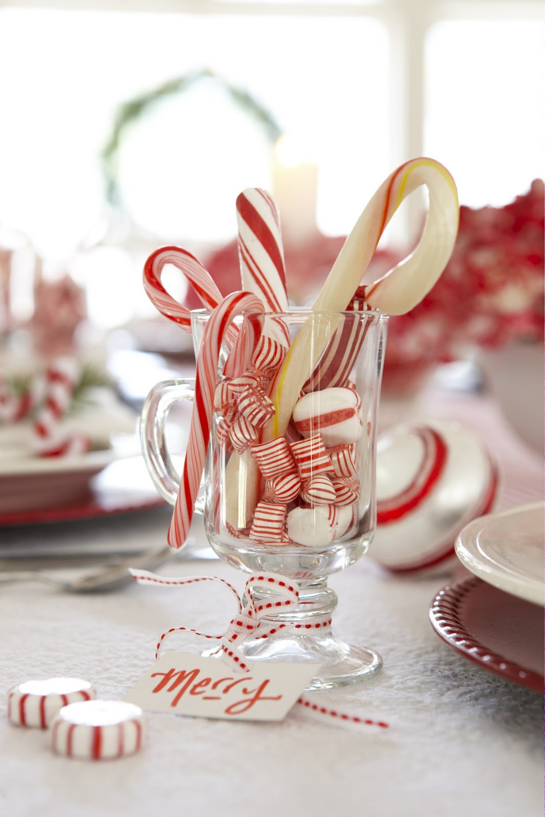 Karin Lidbeck Holiday Table Diy Candy Cane Style