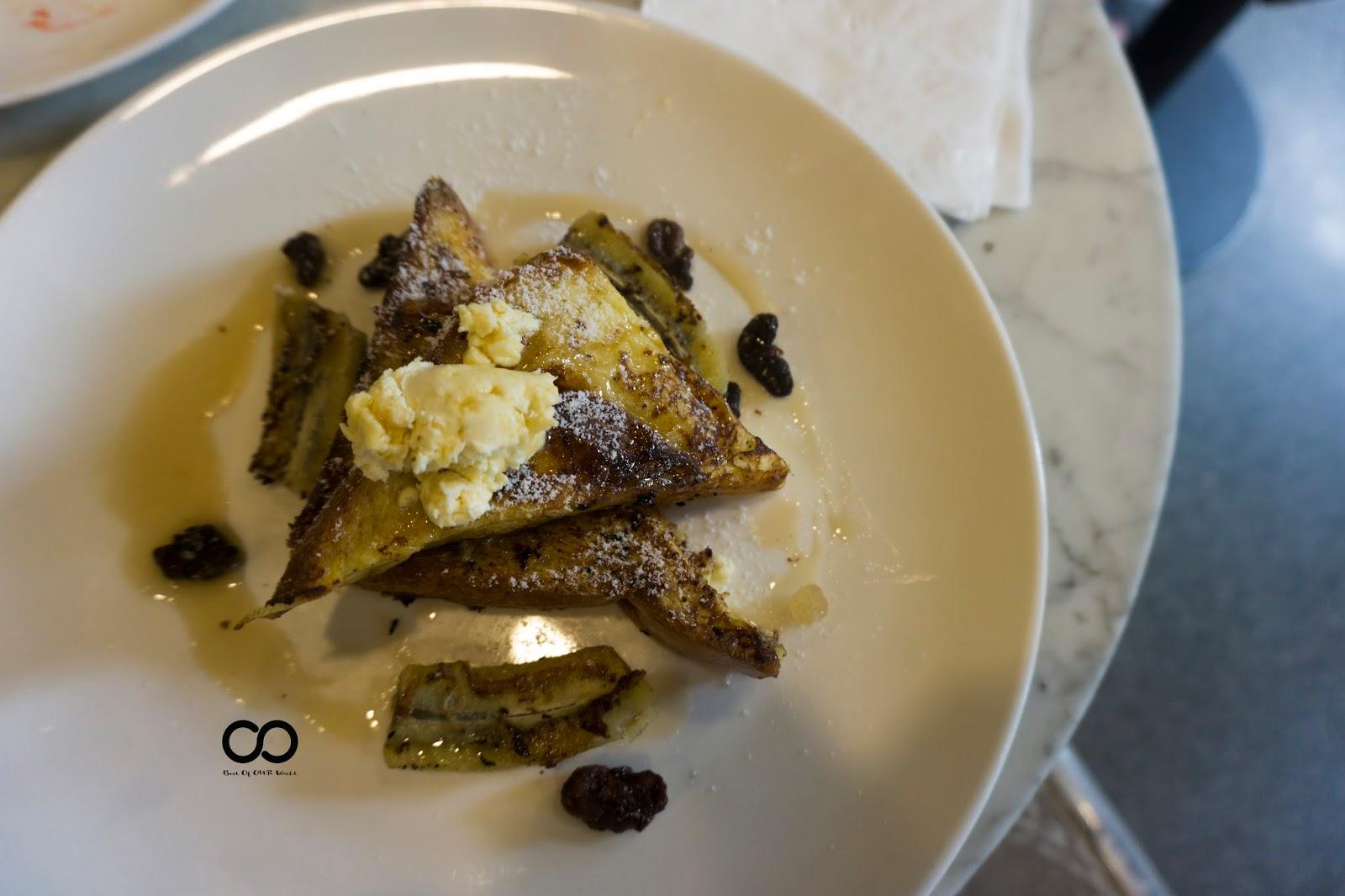 Banana and Ricotta Cheese French Toast (2 pcs)