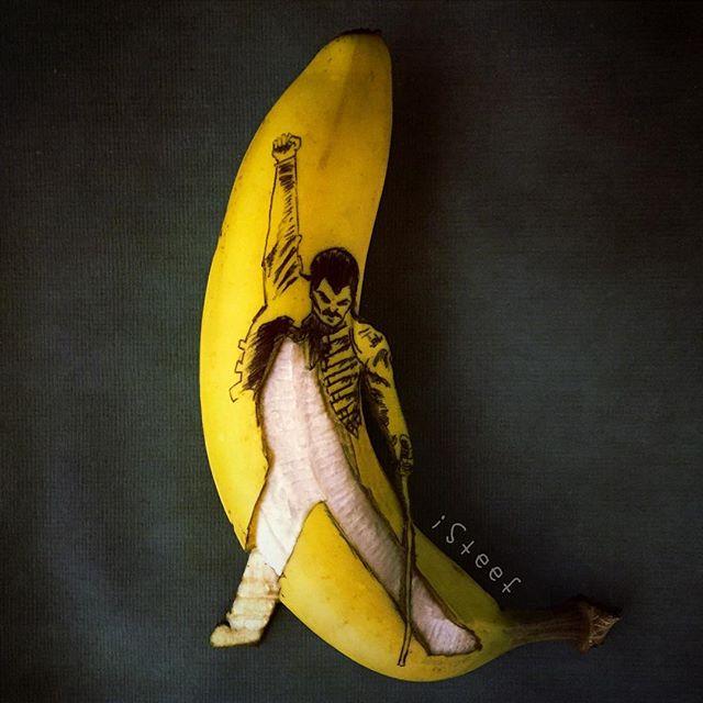 lukisan media pisang paling kreatif unik lucu dan menakjubkan-11