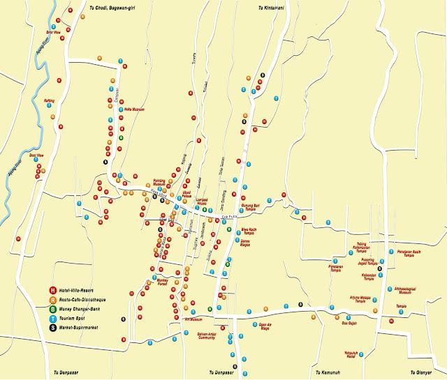 Gambar Peta wisata Ubud Bali