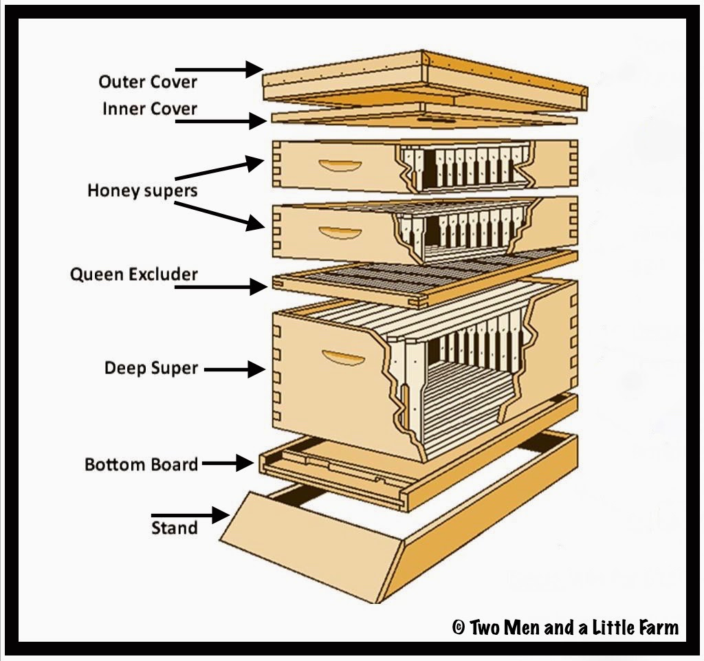 two men and a little farm parts of a beehive and wax. Black Bedroom Furniture Sets. Home Design Ideas