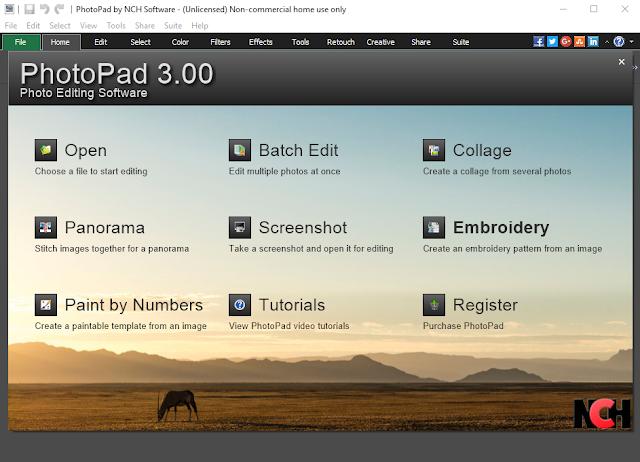 PhotoPad - Photo Editor - Main Screen