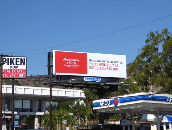 Abercrombie Fitch got us figured out billboard
