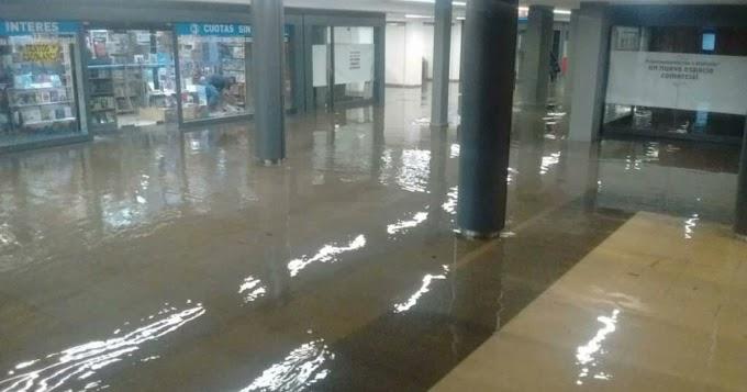 El subte nuevamente inundado después del temporal