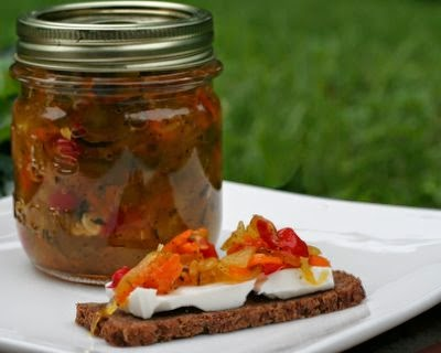 Homemade Zucchini Relish, a perfect way to use up giant zucchini from the garden.