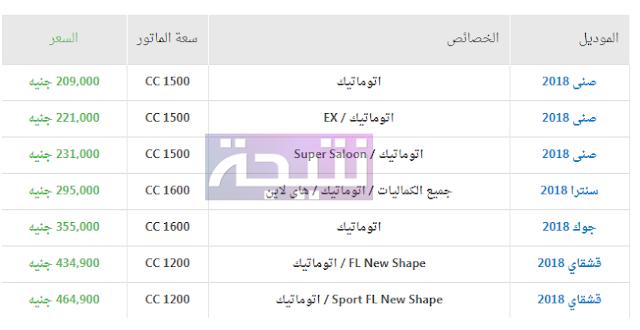 أسعار سيارات نيسان 2018 في مصر