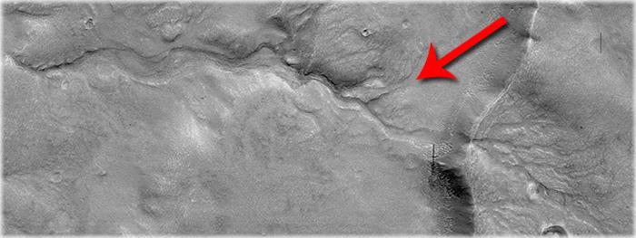 antigo rio em Marte