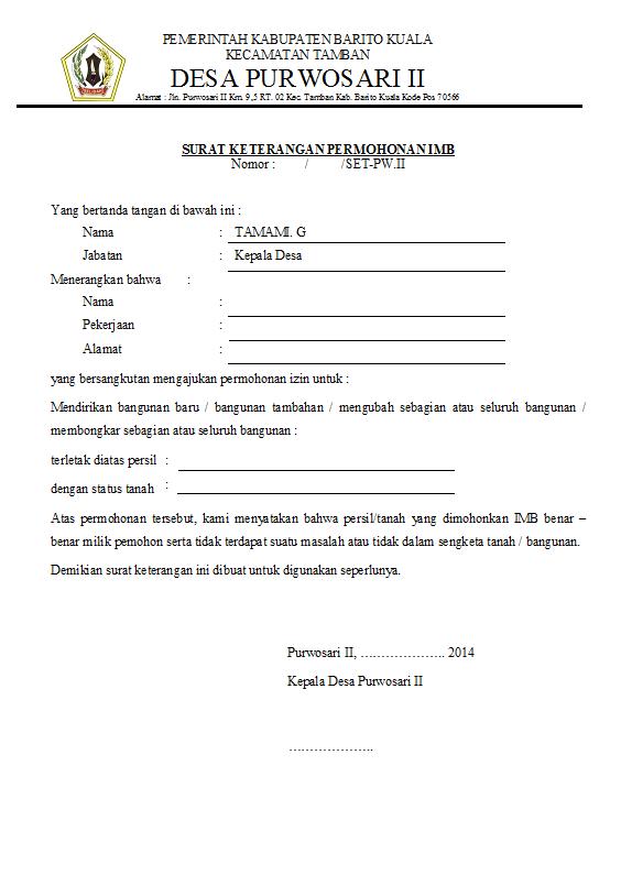 16 Contoh Surat Keterangan Penghasilan Orang Tua, Wiraswasta...