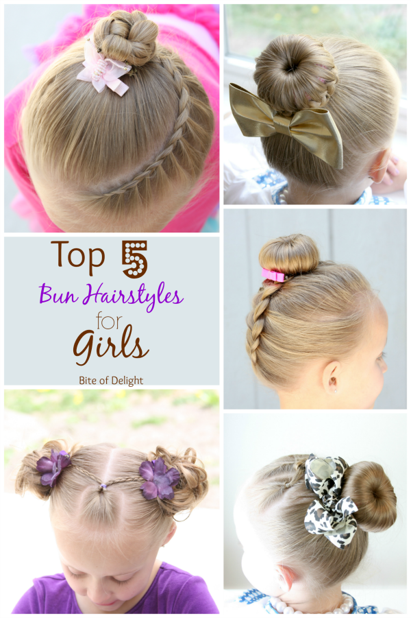 Top 5 Bun Hairstyles for Little Girls | Hair Tutorial | Little Girl Hairstyles