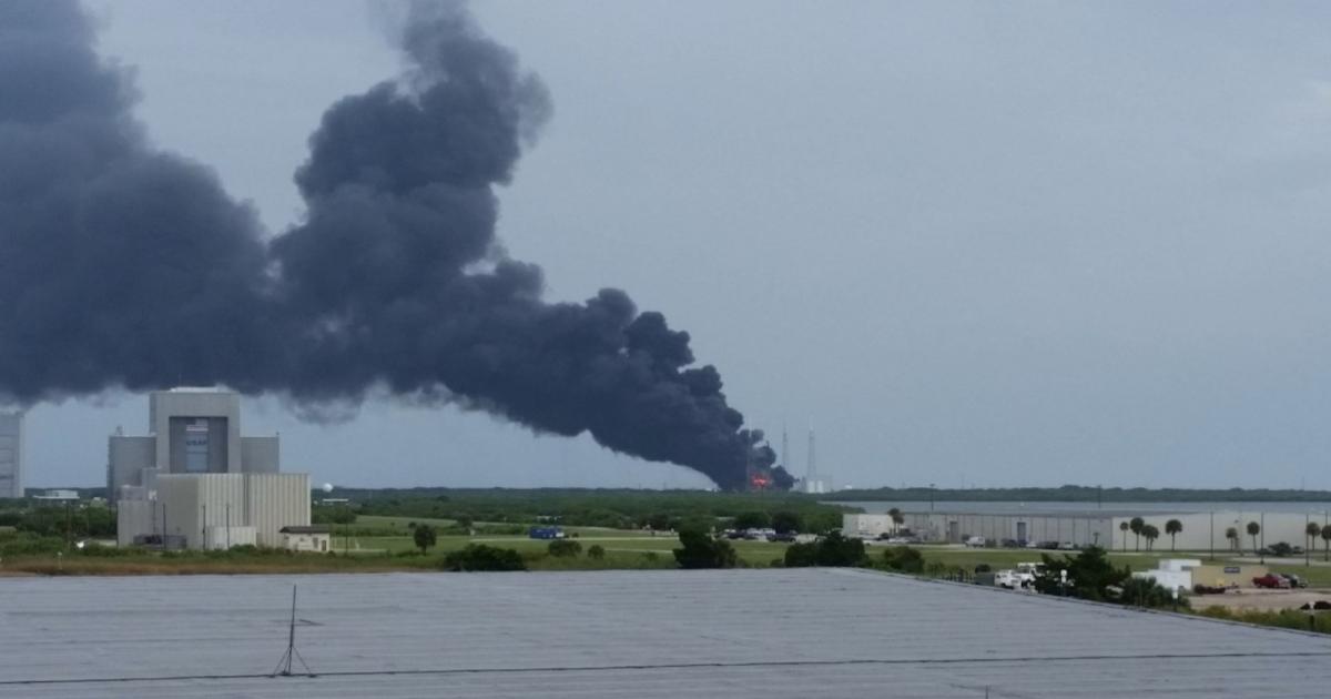 Ultim'ora: esplode un Falcon 9 a Cape Canaveral
