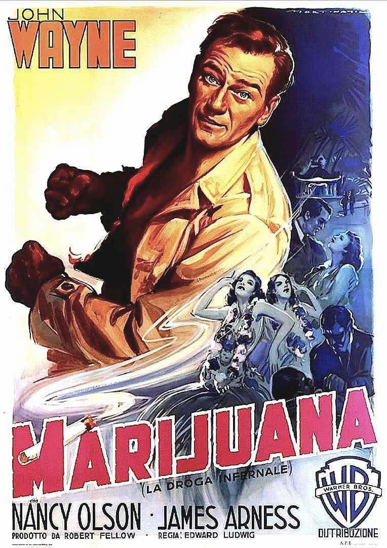 John Wayne Marijuana poster