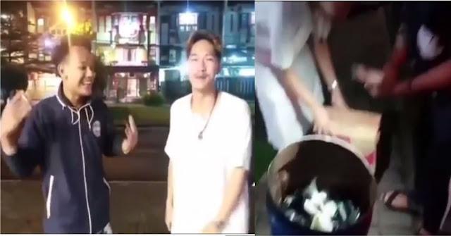 Youtuber Bandung Bagi-bagi Makanan Berisi Sampah Kabur Setelah Viral