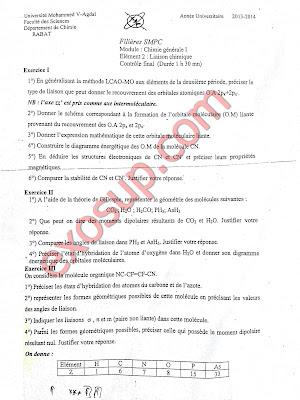 contrôles corrigés liaison chimique fsr smpc s2