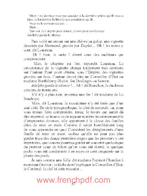 La Muse du Département en pdf d'Honoré de Balzac