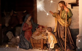 Wallpaper: Birth of Jesus scene at every Christmas