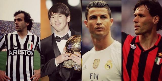 Os vencedores da Bola de Ouro