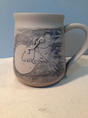 Ceramic Luna Moth Mug by Future Relics Gallery