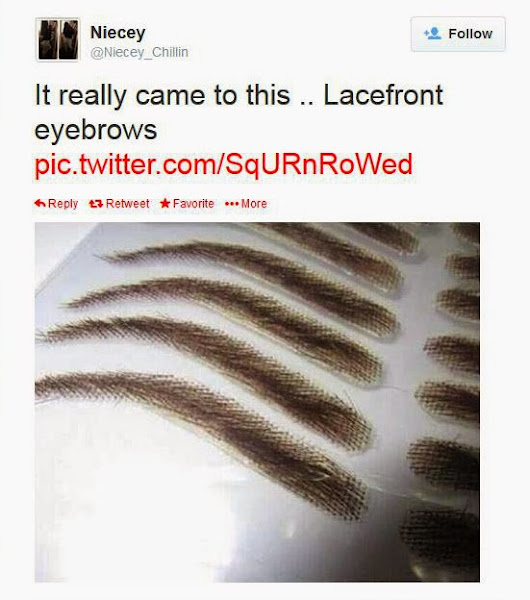 Lacefront Eyebrows The Internet Goes Crazy Over Eyebrow Weave For