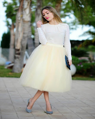 outfit with tulle skirt