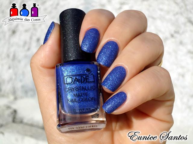Blue Sugar, Crystallic Matte, azul, texturizado, Glitter Holográfico, Eunice Rodrigues, nail polish, esmalte, israelense