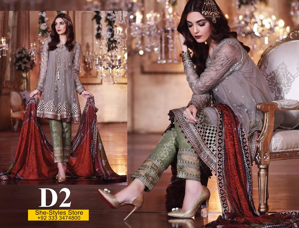 c81bbfe33a Maria B Mbroidered Eid-Ul-Fitr Catalog 2017-18 with Prices | She ...