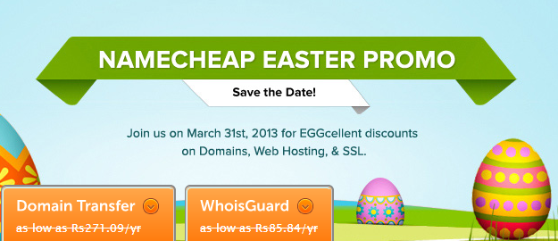 namecheap promo code,discount coupon code,special discount,easter promo
