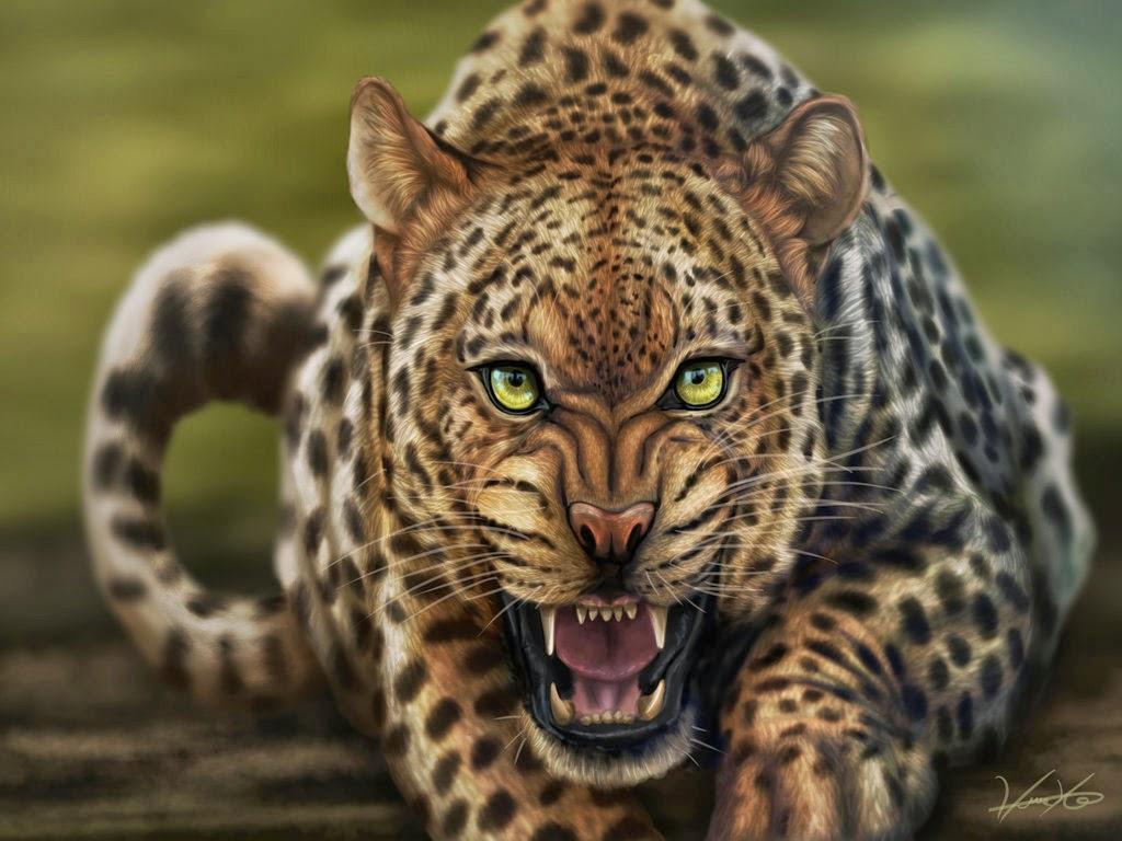 Digital Leopard Art HD Wallpaper