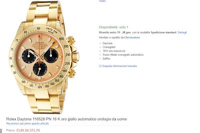 Rolex Daytona 116528 PN 18 K oro giallo automatico orologio da uomo