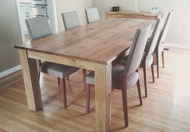 Oak farmhose table in Vancouver
