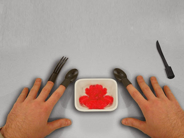 Innovative and Clever Wearable Cutlery (15) 12