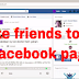 Invite Friends to Facebook Page