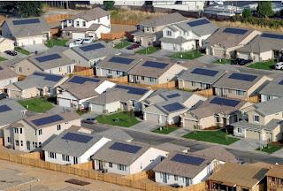 Solar panel housing community