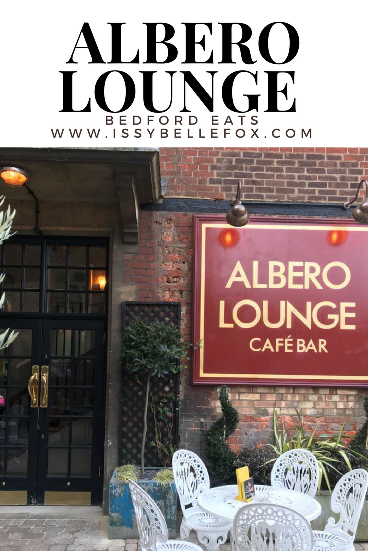 pinterest image for The Albero Lounge, Bedford