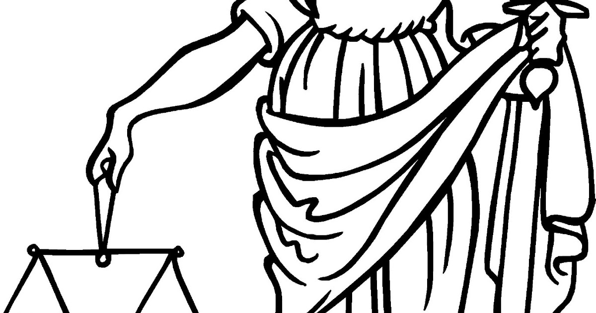 Gladly Lerne, Gladly Teche: Lady Justice Coloring Book