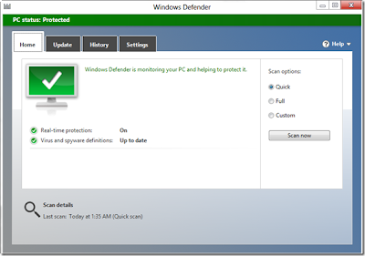 mematikan windows defender di windows 8