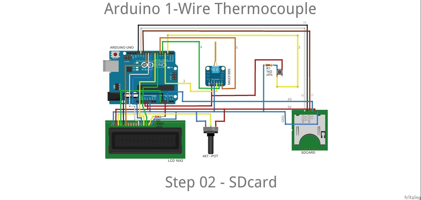 13 Arduserie Arduino 1 Wire Thermocouple In The Kitchen Wiring Lcd Step 03 Rtclib Test Ard File Thermokitchen Ivino Description This Code Disables And Sd Card To Rtc
