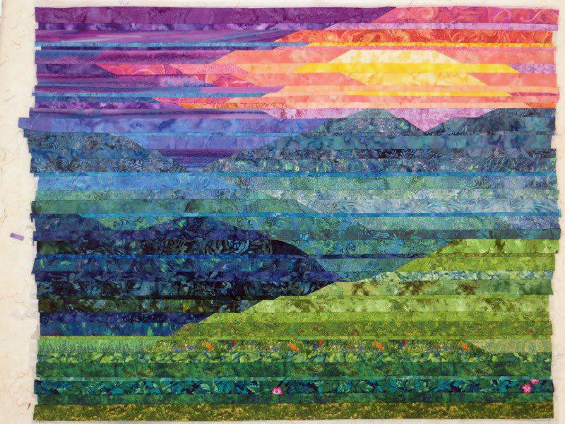 Cathy Geier S Quilty Art Blog Making Blue Ridge Mountain