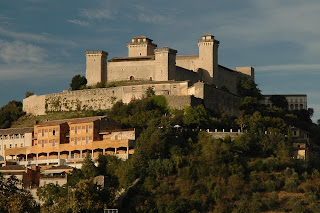 The well-preserved castle at Spoleto