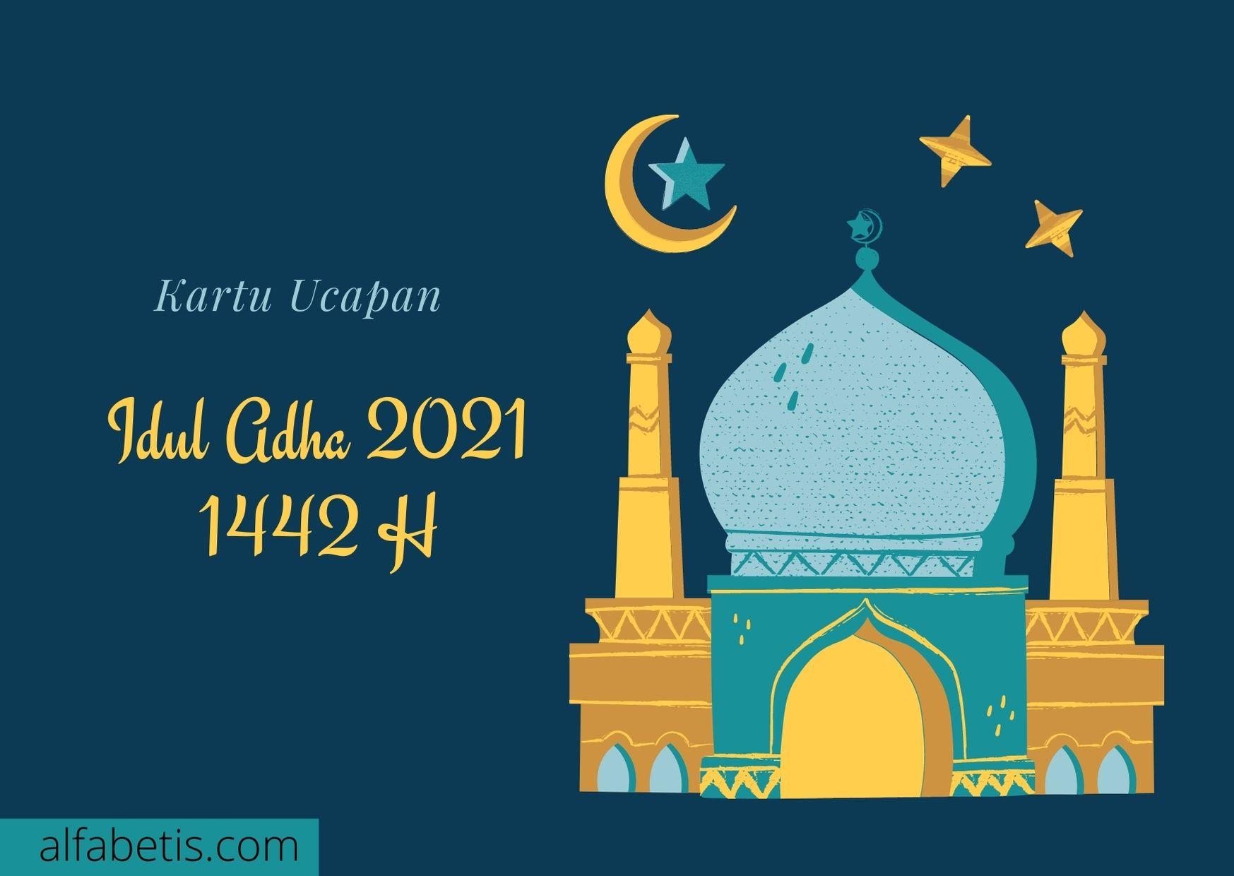 Kartu Ucapan Selamat Hari Raya Idul Adha 2021 / 1442 H