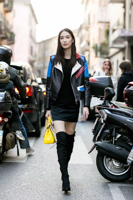 outfit chiodo come abbinare il chiodo abbinamenti chiodo tendenze primavera 2016 outfit biker jacket how to wear biker jacket how to combine biker jacket biker jacket street style mariafelicia magno fashion blogger color block by felym tendenze inverno 2016 fall trend